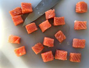 Cubi di Salmone Crudo