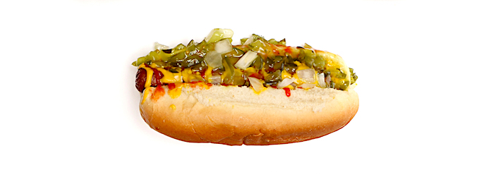 Hot Dog con Relish